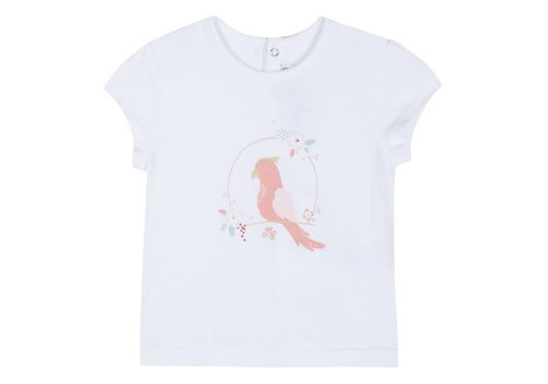 Tartine Et Chocolat Tartine & Chocolat T-Shirt Flower Bird White