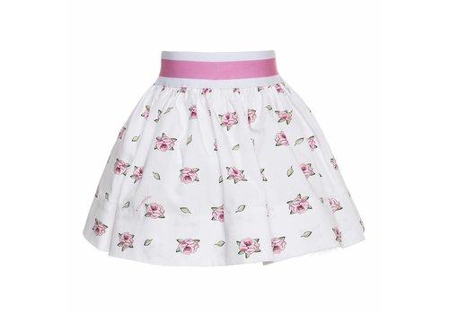 Monnalisa Monnalisa Skirt Roses White