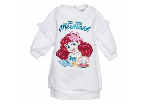 Monnalisa Monnalisa Sweaterdress Little Mermaid White