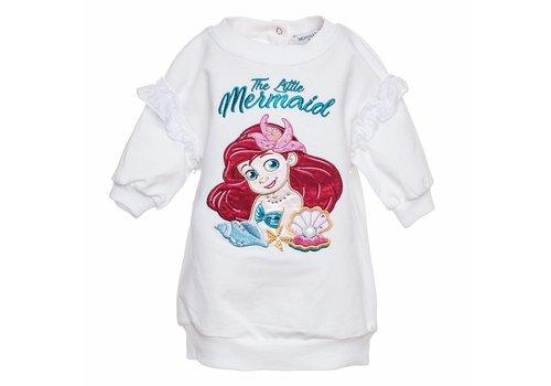 Monnalisa Monnalisa Sweaterdress Little Mermaid Wit