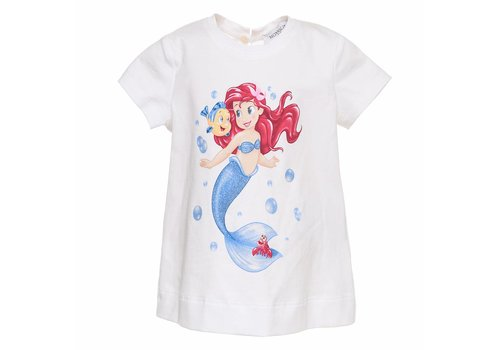 Monnalisa Monnalisa T-Shirt Little Mermaid Sea White
