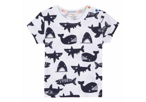 Paul Smith Paul Smith T-Shirt Wit Sharks