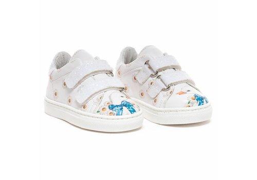 Monnalisa Monnalisa Sneakers Flowers Wit