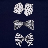 Mayoral T-Shirt Bows Navy