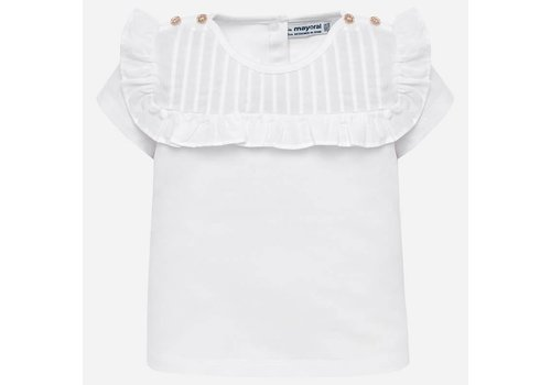 Mayoral Mayoral T-Shirt Kraag Wit