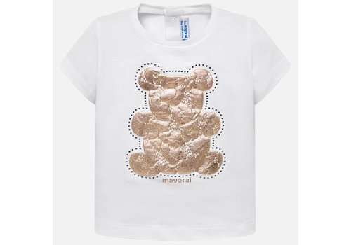Mayoral Mayoral T-Shirt Wit Beertje Gold