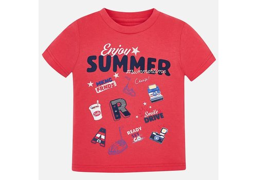 Mayoral Mayoral T-Shirt Enjoy Summer Rood