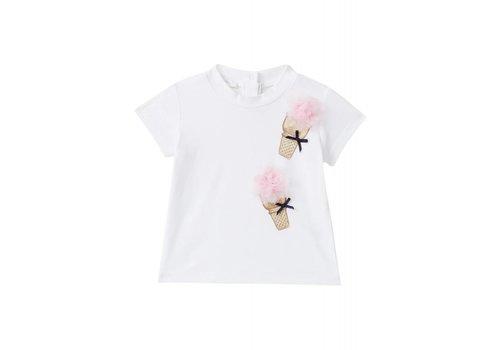 Liu Jo Liu Jo T-Shirt Ice Cream Wit