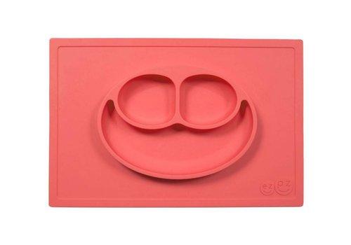 EZPZ EZPZ Placemat + Plate Happy Mat Coral