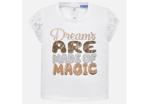 Mayoral Mayoral T-Shirt Dreams Are Made Of Magic White