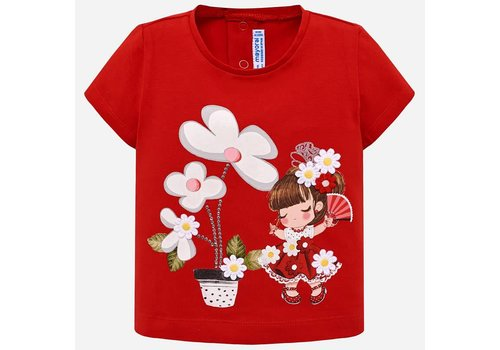 Mayoral Mayoral T-Shirt Flowers Rood