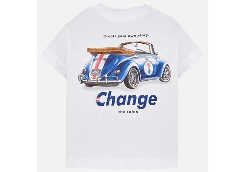 Mayoral Mayoral T-Shirt Car Wit