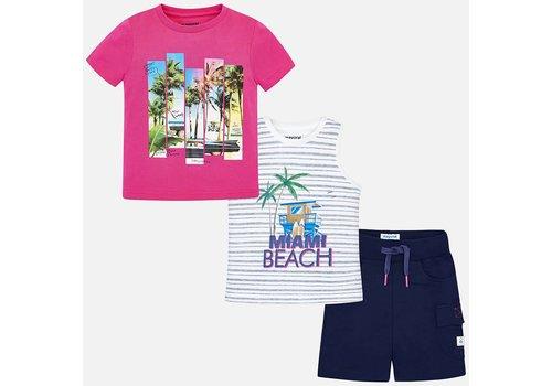 Mayoral Mayoral Set Short + T-Shirts Paradise