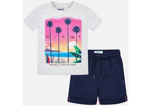 Mayoral Mayoral Set Short + T-Shirt Miami