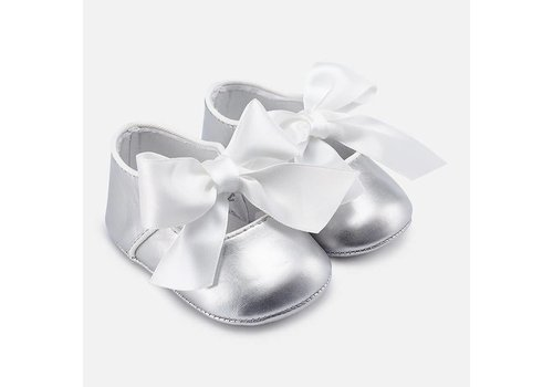 Mayoral Mayoral Ballerina Bow Mary Jane Silver
