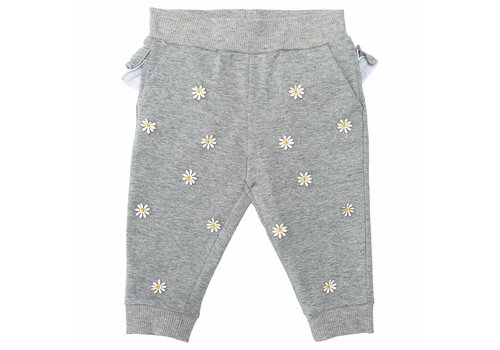 Monnalisa Monnalisa Sweatpants Flowers Grey