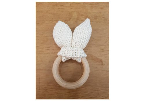 MiniM MiniM Teether Bunny Ears White