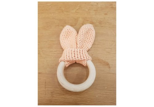 MiniM MiniM Teether Bunny Ears Old Pink