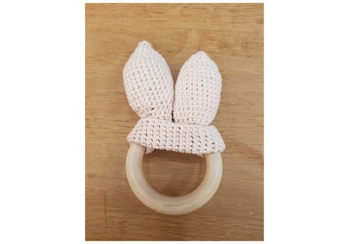 MiniM MiniM Teether Bunny Ears Light Pink