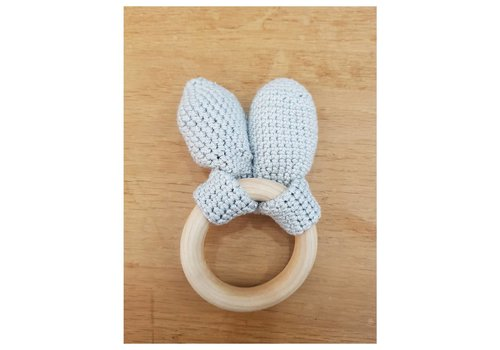 MiniM MiniM Teether Bunny Ears Light Grey