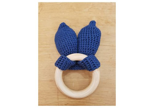 MiniM MiniM Teether Bunny Ears Navy