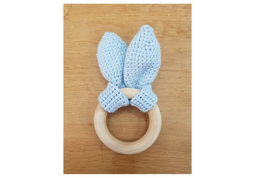 MiniM MiniM Teether Bunny Ears Light Blue