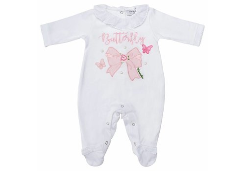 Monnalisa Monnalisa Pyjama Butterfly Wit