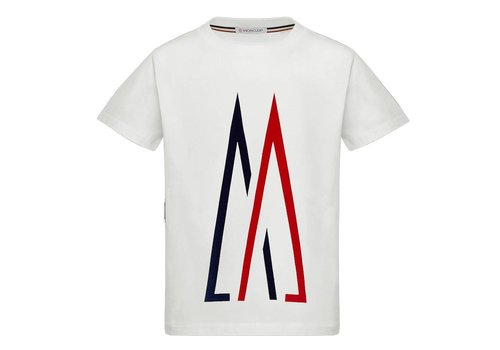 Moncler Moncler T-Shirt Maglia Baby Logo Wit