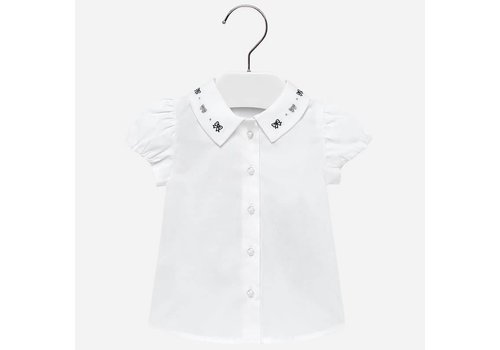 Mayoral Mayoral Shirt White Collar Bows