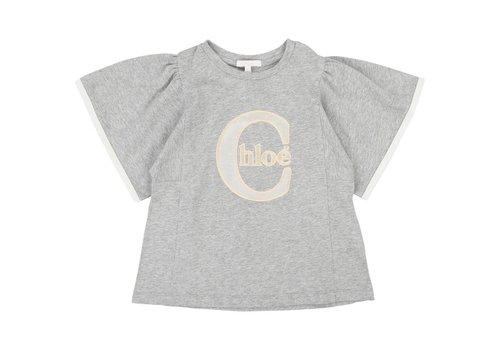 Chloe Chloe T-Shirt Spikkel Lichtgrijs