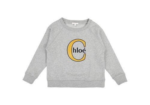Chloe Chloe Sweater Spikkel Lichtgrijs