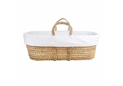 Theophile & Patachou Theophile & Patachou Wicker Travel Cot + White Cover