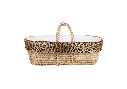 Theophile & Patachou Theophile & Patachou Wicker Travel Cot + Leopard Cover Limited Edition