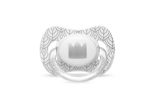 Suavinex Suavinex Fopspeen Silicone Physical Swan 4 - 18M Kroon Silver