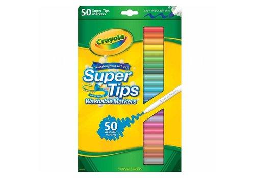 Crayola Crayola Washable Markers Super Tips 50 Pieces