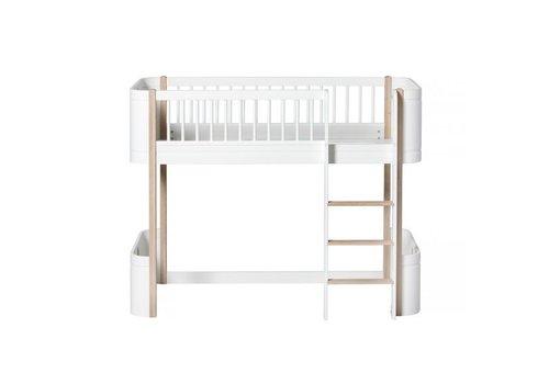 Oliver Furniture Oliver Furniture Bed Wood Mini+ Low Loft Bed Wit Eik