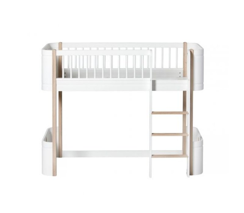 Oliver Furniture Bed Wood Mini+ Low Loft Bed Wit Eik