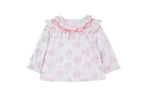 Tartine Et Chocolat Tartine & Chocolat Shirt White - Pink Flowers
