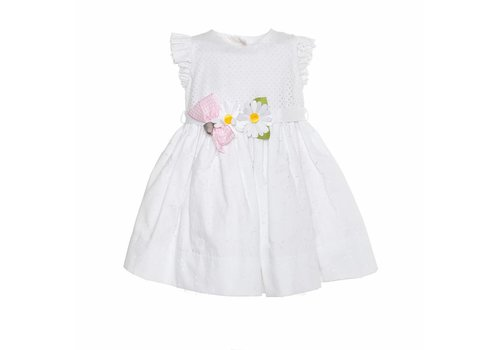 Monnalisa Monnalisa Dress Flowers White
