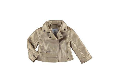 Mayoral Mayoral Leather Jacket Gold