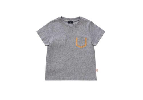 Il Gufo Il Gufo T-Shirt Grey - Fluo Orange