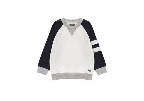 Il Gufo Il Gufo Sweater White - Dark Blue