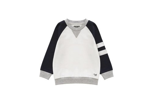 Il Gufo Il Gufo Sweater Wit - Donkerblauw