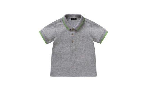 Il Gufo Il Gufo Polo Shirt Grey - Fluo Green