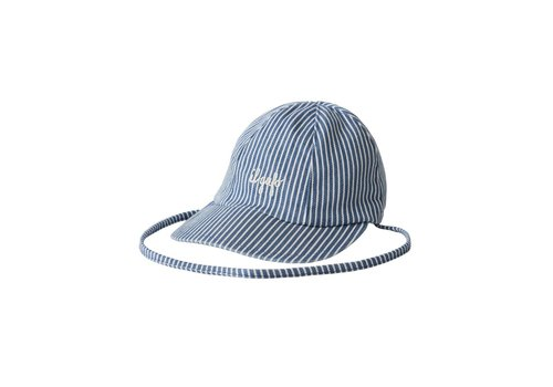 Il Gufo Il Gufo Cap Denim Blue Stripes