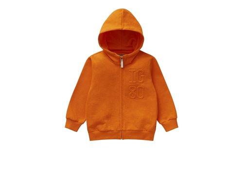Il Gufo Il Gufo Cardigan With Zipper Orange