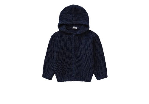 Il Gufo Il Gufo Cardigan Denim Blue