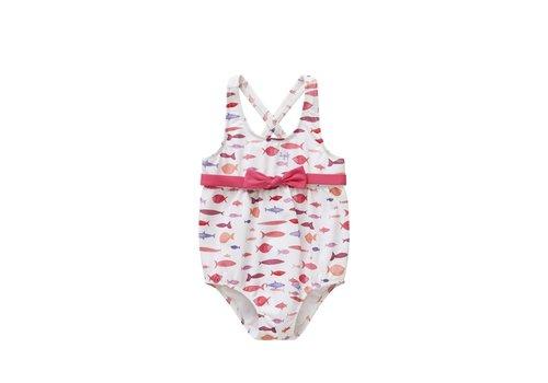 Il Gufo Il Gufo Swimsuit Fish Pink Bow