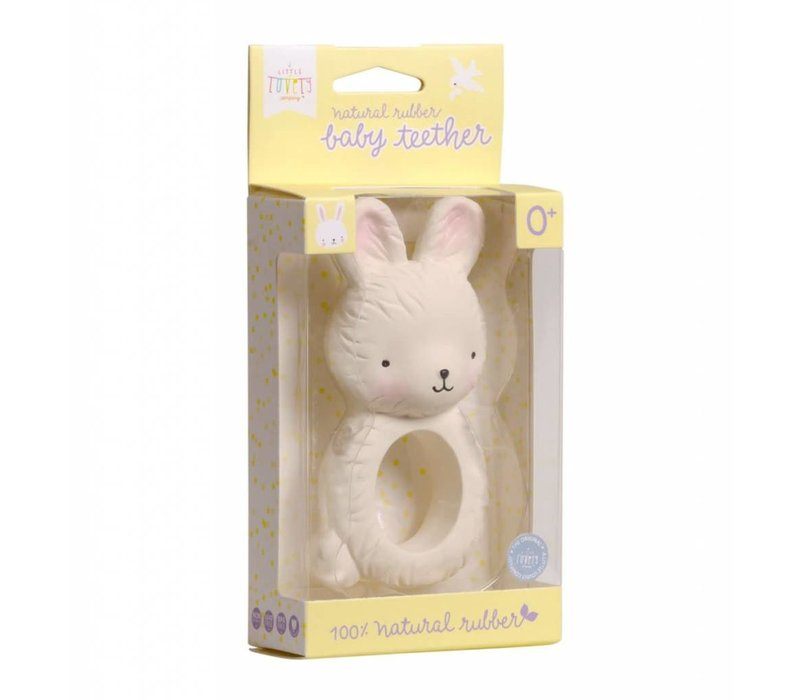 A Little Lovely Company Teething Ring Bunny