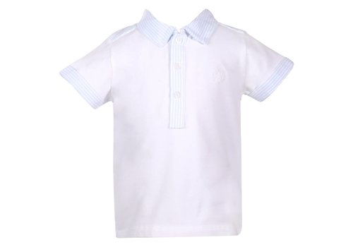 Patachou Patachou Polo Wit - Blauw